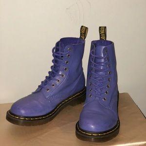 Purple DR. MARTENS 8-EYE BOOT.  Gently worn